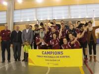 L'Assessoria Vallparadís celebra la victòria de l'any passat // Imatge cedida per la Federació Catalana de Korfbal