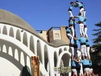Imatge d'arxiu dels Castellers de Terrassa al Parc Sant Jordi // Foto: Juan Diego Galán
