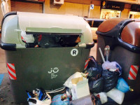 ICV denuncia la manca de recollida de brossa a Castellar // Imatge cedida per ICV Castellar