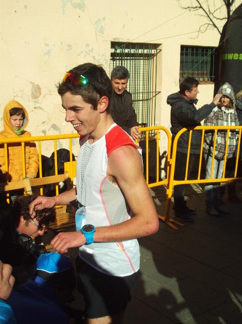 Arribada a la meta de Jan Margarit, el guanyador // Foto: Joan Murcia