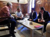 Reunió entre Jordi Cuesta i Jordi Ballart // Imatge cedida per l'Ajuntament de Terrassa