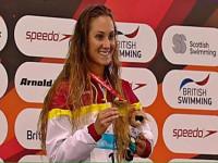 Sarai Gascón campiona del món // Imatge cedida pel CN Terrassa