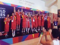 La selecció espanyola debàsquet als Specials Olympics // Imatge cedida per Specials Olympics Catalunya