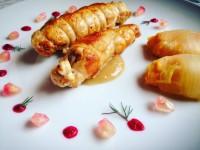Picantones rellenos de foie setas // Imatge Menjar a Cala Blanca