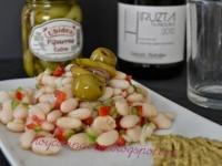Ensalada de alubias con crema de gildas // Imatge Hoy cocina Vivi