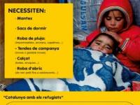 Catalunya amb els refugiats // Imatge cedida per l'AMIC