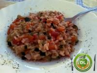 Risotto de verduras y jamón dulce // Imatge DL cocina y gastronomía