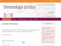 Terminologia Jurídic // Imatge del web de TERMCAT
