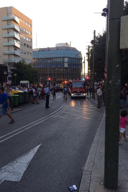 Incendi al Portal de Sant Roc
