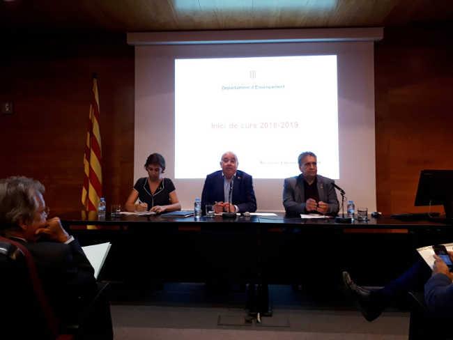 Josep Bargallo Presentació curs 2018-2019 //Foto: Conselleria Ensenyament