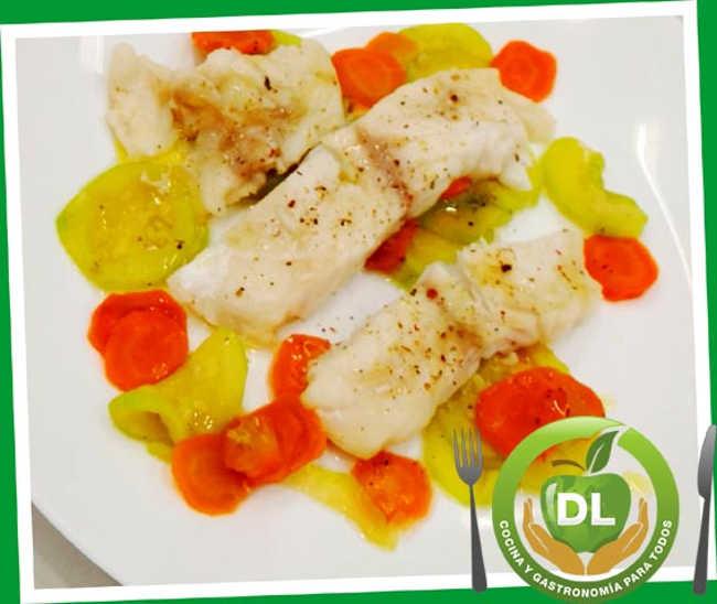 Perca amb verdures a la papillota //Foto: dlcocinaygastronomia.com